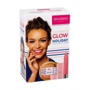Bourjois Paris Color Boost 2,75G Lipstick Color Boost Spf15 2,75 G + Bronzing Powder Mat Illusion Spf10 15 G 21 Light + Nail Polish La Laque Gel 10 Ml 2 Chair Et Tendre 04 Peach On The Beach Per Donna (Lipstick)