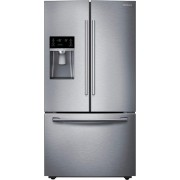 Samsung - 28.1 Cu. Ft. French Door Refrigerator with Thru-the-Door Ice and Water - Stainless steel