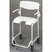 Invacare Chaise de douche mobile avec accoudoirs escamotables Invacare Alizé