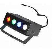 Mini Multicolor Electric Laser Projector Cum Par Light 4 LED RBGW Stage Lighting Laser Light for Party and DJ