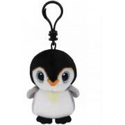 Breloc din plus TY Boos 8.5 cm - Pinguin Pongo