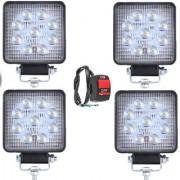 9 LED Square Universal Bike /Motorcycle Fog Light 4+1 Switch