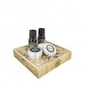 Set cadou Dear Barber Mini Grooming Collection Ulei de barba, Balsam de barba, Ceara de mustata, Apa de toaleta