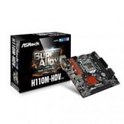 Дънна платка ASRock H110M-HDV R3.0, H110, LGA 1151, DDR4, PCI-E (HDMI&DVI&VGA), 4x SATA 6Gb/s, 2x USB 3.0, micro ATX