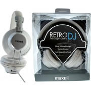 HEADPHONES, MAXELL Retro DJ, White