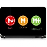 VI Collections 3 DIFFRENT STUDENT IN LOGO pvc Laptop Decal 15.6