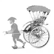 Fascinations Metal Earth Japanese Rickshaw 3D Metal Model Kit