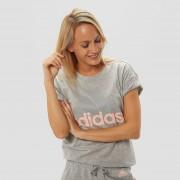 adidas Essentials linear shirt grijs/roze dames