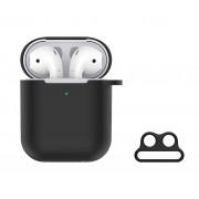 Devia Pouzdro pro sluchátka AirPods - Devia, Naked Case Black