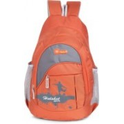 Hot Shot Polyester Waterproof School, College, Tution, Gym Casual Trip Tour 30.0 L Backpack(Orange, Grey)