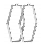 CLUSE Oorbellen Essentiele Large Hexagonal Hoop Earrings Zilverkleurig