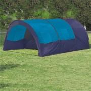 vidaXL Tenda de campismo 6 pessoas tecido azul escuro e azul