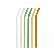 Kave Home Set Gillia de 6 palhinhas de vidro multicolor