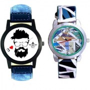 I Love Rock Handsome And MultI Colour Sky Blue Couple Casual SCK Analogue Watch By Google Hub