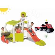 Smoby centru de joacă pentru copii Fun Center şi tractor roşu RX Bull 310059-4