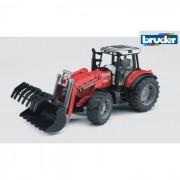 Bruder trattore massey ferguson 7480 con benna 2042
