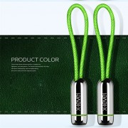 X-LEVEL Lock Buckle Pattern Type-C USB Data Sync Charging Cord for Samsung Huawei LG - Green