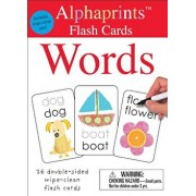 Alphaprints: Wipe Clean Flash Cards Words/Roger Priddy