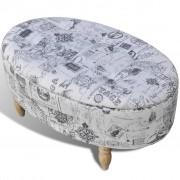 vidaXL Stool Footrest Ottoman Storage Seat Patterned Oval 99 x 60 x 47 cm