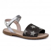 Sandale fete BIBI Classic Stelute Argintii Metalizat