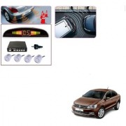 Auto Addict Car Silver Reverse Parking Sensor With LED Display For Volkswagen Vento