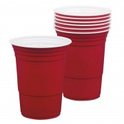Merkloos 12x Rode Beerpong bekers 400 ml