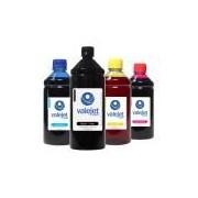 Kit 4 Tintas para Epson Universal Black 1 Litro Coloridas 500ml
