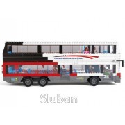 Sluban Luxurious Double Decker 741 Pieces (Brand New In Original English Box) 100% Lego Compatible Educational Toy Building Bricks (Red White Black Bus)