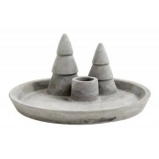 Nordal Bricka/Ljusstake X-mas Cement