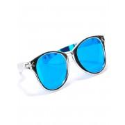 Vegaoo Silverfärgade jätteglasögon för vuxna One-size