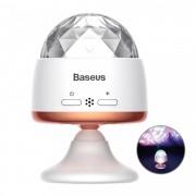 Bec rotativ disco LED RGB cu acumulator, autonomie 4 ore , Baseus Magic Ball ,alb