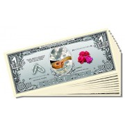 """""""I Thee Wed"""" (Wedding) Million Dollar Bill - 10 Count with Bonus Clear Protector & Christopher Colum"""