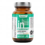 Herbaline Funkcjonalne suplementy diety, Dystrybutor: Pharmovit Sp. z Insulinmed z dodatkiem BioPerine i gurmar 60 kapsułek Vcaps PharmoVit Herballine