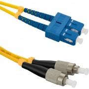 Cablu qoltec Optic Patchcord SC/UPC - FC/UPC SM 9/125 G652D 5m (54046)