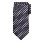 Nyakkendő barna és sötétkék csíkos mintával 9797