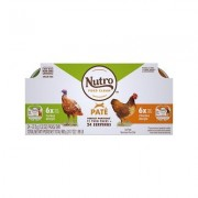 Nutro Perfect Portions Grain-Free Pate Multi-Pack Real Turkey & Real Chicken Recipe Cat Food Trays, 2.65-oz, case of 12 twin-packs
