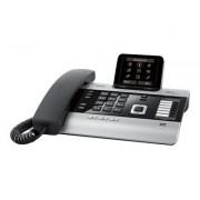 Siemens DX800A all in one - Telefoon met snoer / VoIP-telefoon / ISDN-telefoon - antwoordsysteem met nummerherkenning/wachtstand - DECTGAP - SIP - multiline - titanium, pianozwart