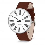 Arne Jacobsen Clocks Armbandsur Roman Vit/brun 40 mm Arne Jacobsen Clocks