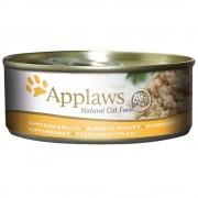 Applaws w bulionie karma dla kota, 6 x 156 g - Pierś z kurczaka z kaczką Darmowa Dostawa od 89 zł