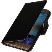 LELYCASE Zwart Samsung Galaxy A7 2015 A700F Lederen Booktype Telefoonhoesje
