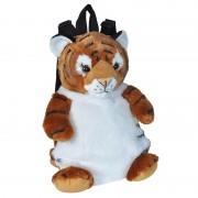 Wild Republic Pluche tijger rugzak/rugtas knuffel 33 cm