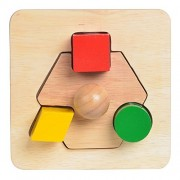 Blue Ribbon Mix And Match Shapes Shape Sorter Wooden Toy, Eyehand Coordination