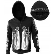 kapucnis pulóver férfi - Ram Priest - BLACK CRAFT - ZS016RT
