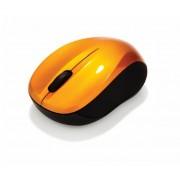 Egér, vezeték nélküli, optikai, közepes méret, USB, VERBATIM Go, lávaszínű (VE49045)