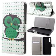 Style Series Huawei P20 Pro Wallet Case - Groen Uil