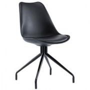 Ofisillas Silla de Diseño / Confidente RECULA, exclusivo diseño en piel color negro