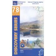 Topografische kaart - Wandelkaart 78 Discovery Kerry | Ordnance Survey Ireland