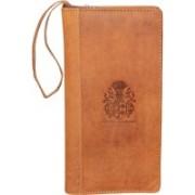 Kan Premium Quality Leather Travel Organizer/Passport Holder/Long Wallet for Men & Women(Tan)