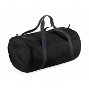 Bagbase Zwarte ronde polyester sporttas/weekendtas 32 liter