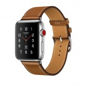 Умные часы Apple Watch Hermes Series 3 38mm with Single Tour Fauve Barenia Leather MQLM2